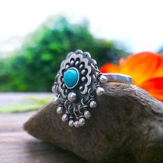 Mexico Jingle Ring - Turquoise Ring