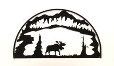 This Moose Hoop is a great accent for any lodge decor. Choose from a glistening Hammered Black finish or a Clear-Coated Natural Rust Patina on this moose silhouette. This great piece of art provides a clean, but rustic look that works great in any kind of lodge, Adirondack or rustic themed area. The square outer frame on this moose adds just a touch of dimension. Measures appx: 28 x 16 inches