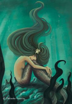 Beautiful flow. La mirada de la sirena by Mercedes Palacios. The gaze of the mermaid