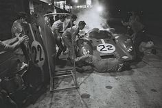 NART Ferrari 312 P at Sebring 1970 The Mike Parkes - Chuck Parsons NART Ferrari 312 P pulls into the pits late in the 1970 Sebring race with overheating problems. The mechanics were able to deal with it and the car went on to a 6th place finish. Henry Ford/Friedman photo.