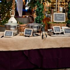 Wedding reception food: biscuit bar for a southern wedding