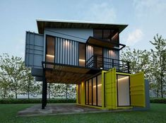 Casa container de dois andares