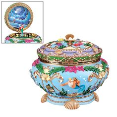 DISNEY Little Mermaid Ariel Music Box . I would love to get this for Kryslyn as a collectible! We are True Disney Princess Fans! Walt Disney, Disney Home, Disney Magic, Disney Pixar, Ariel Disney, Disney Little Mermaids, Ariel The Little Mermaid, Ariel Music, Disney Music Box