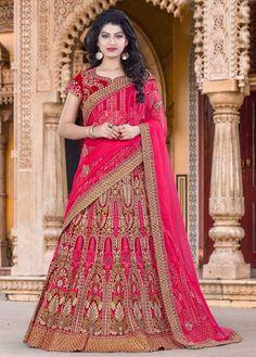Rajasthani style Bridal wear Designer Lehenga in Bhagalpuri Silk