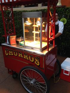 Photos of Barts Carts - Culver City, CA. Churro Cart= A Delicious Crowd Favorite Y Food, Food And Drink, Food Trailer, Gypsy Trailer, Bart Carts, Vendor Cart, Pizza Food Truck, Food Stations, Food Stall