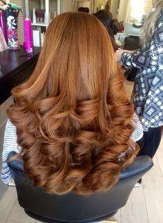 Big curls on big hair. Curls For Long Hair, Long Red Hair, Very Long Hair, Long Curly Hair, Big Hair, Wavy Hair, Curly Hair Styles, Natural Hair Styles, Thick Hair
