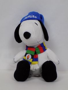 Details about MetLife Winter Olympics Snoopy Plush Stuffed Animal 6