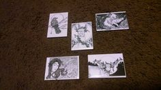 Set of 5 Magnets - Crow, Cuttlefish, Llama, Unicorn, Cow, Birds, Woman by KahnArtistry on Etsy