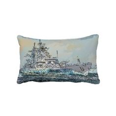 Navy ships 2 style Pillow