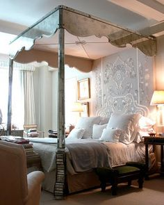 hilton paris Bedroom | Design Chic: Mirrored Beds