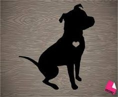 Image result for staffy silhouette