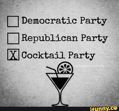 republican party democratic party cocktail party - Google Search