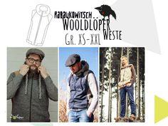 Nähanleitungen Mode - Ebook Weste Wooldlöper Gr. XS-XXL - ein Designerstück von Rabaukowitsch bei DaWanda