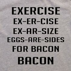 It would not be a Sunday without a Bacon joke :) Love it. Found on Etsy