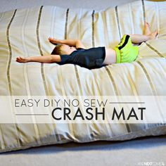 Easy sensory hack: how to make a DIY no sew crash mat for kids - perfect for kids with autism and/or sensory processing disorder from And Next Comes L