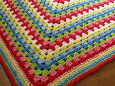 Crochet Blanket Afghan Granny Square Cath Kidston by Thesunroomuk, £50.00