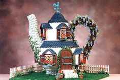Tempting Teapot  Former Runner-Up Winner  Veronica Romo of Boerne, TX, crafted beautiful details such as flowering vines and potted plants for her unique teapot gingerbread house.  Read more: Amazing Gingerbread Houses - Pictures of Gingerbread Houses - Good Housekeeping Follow us: @Good Housekeeping Magazine on Twitter | GOODHOUSEKEEPING on Facebook Visit us at GoodHouseKeeping.com