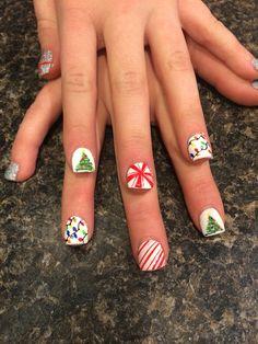 Kiddie Christmas nails