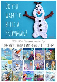 Olaf Salt Dough Ornament for Kids to make for the Christmas Tree this holiday season.  Plus our favorite Frozen books!