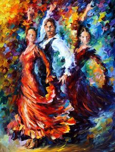 PASSION OF THE DANCE - Palette knife Oil Painting  on Canvas by Leonid Afremov http://afremov.com/PASSION-OF-THE-DANCE-Palette-knife-Oil-Painting-on-Canvas-by-Leonid-Afremov-Size-40-x30.html?utm_source=s-pinterest&utm_medium=/afremov_usa&utm_campaign=ADD-YOUR