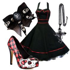 """""""Pin Up Girl"""" by littlemisstoxin on Polyvore"""