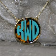 Tortoise Monogram Necklace...I am loving this Tortoise thing!