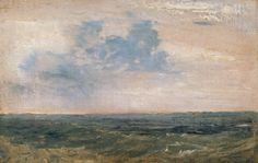 joseph mallord william turner -- study of sea and sky, isle of wight -- 1827 -- oil on canvas -- tate britain