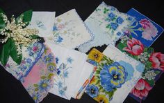 Vintage Hankies Something Blue.....twelve by CheekyVintageCloset, $34.50