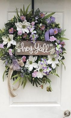 Spring Wreath Spring And Summer Wreath Spring Fromt Door