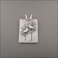 Nurturing Mother and Child Sterling Silver Pendant by Beth Millner Jewelry