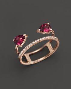 Rhodolite Garnet and Diamond Ring in 14K Rose Gold | Bloomingdale's