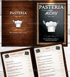 Restaurant Menu PSD Template can be menu for Mediterranean cuisine, Italian, or traditional cuisine restaurantThe package contains: Front cover, 2 inside pages and the back cover. Description from premiumtemplates.blogspot.com.au. I searched for this on bing.com/images