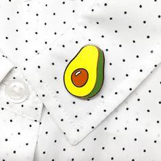 avocado pin on shirt collar