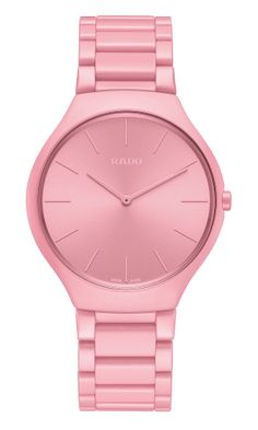 RADO True Thinline Pink Les Couleurs Le Corbusier Watch R27094642 Le Corbusier, Pink Watch, Vibrant Colors, Colours, Rado, Watch Model, Shades Of Red, Color Theory, Watches Online