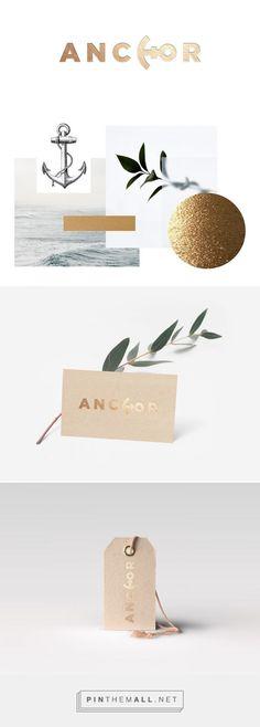 """Logotype for a clothes shop, """"Anchor"""". By Ariadna Aran"""