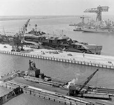 HMS Furious CV - 1941, under refit in US