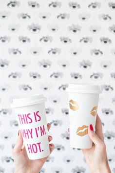 DIY Travel Mugs