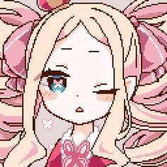 Loli Kawaii, Kawaii Anime, Pretty Art, Cute Art, Piskel Art, Pastel Goth Art, 8bit Art, Anime Pixel Art, Cute Anime Profile Pictures
