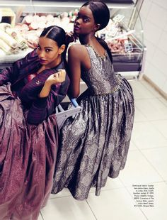 Dominique Armorer & Adau Mornyang in Fresh Produce by Damon Fourie for Elle South Africa July 2014