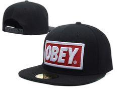 Obey Black Snapback