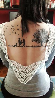 Minha tatuagem em homenagem aos meus filhos