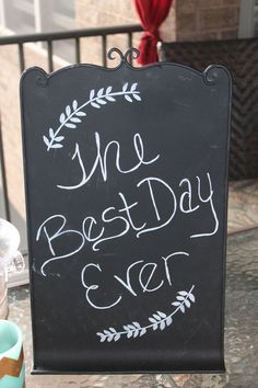 Chalkboard Sign with Stand Rustic Wedding Reception Decor
