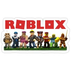 'Roblox' Sticker by minimalismLuis Roblox Cake, Roblox Gifts, Free Printable Birthday Invitations, Party Printables, Birthday Themes For Boys, Boy Birthday, Minion Coloring Pages, Roblox Pictures, Dream Party