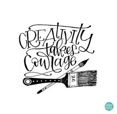 Printable - Creativity Takes Courage - Art Printable Quote by Rachel Kick on Etsy