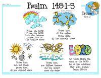 Psalm 148:1-5 Printable plus more Bible Verse Songs