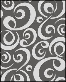 Large Swirl Stencils | Stencils from our Budget stencil range
