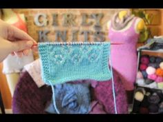 In this Girly Knits knitting tutorial you will learn how to knit daisy lace! I will be walking you through knitting each row of the daisy lace pattern. Lace Knitting Patterns, Shawl Patterns, Lace Patterns, Knitting Stitches, Clothing Patterns, Stitch Patterns, Knit Lace, Lace Scarf, Knitting Videos