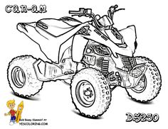 four-wheelers coloring pages | ... Raptor 700r atv 4 wheeler ...