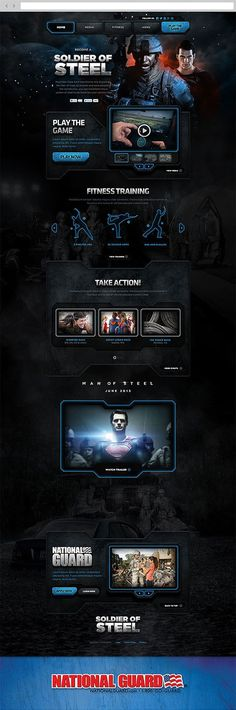 Soldier of Steel by Justin Carroll, via Behance #webdesign: