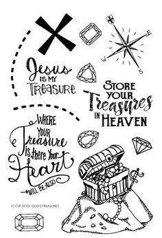 God's Treasure is a Color by Faith Bible Journaling Clear stamp set used for Bible Journaling, Scrapbooking or Crafting projects. Joy Clair stamps are photopolymer clear stamps made in the USA. Bullet Journal Art, Bullet Journal Inspiration, Bible Journal, Journal Ideas, Bible Doodling, Bible School Crafts, Bible Art, Kids Bible, Bible Illustrations